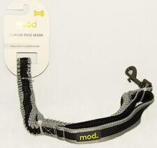 MOD - BUNGEE DOG / Pet LEASH - Black & Silver - sz Large 33 - 65 in *BRAND NEW!