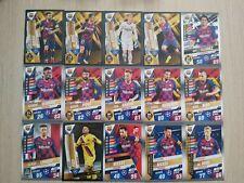 Match Attax 101 2020 set of 15 BARCELONA cards inc Messi 100 club W1
