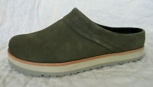 MERRELL Women's JUNO Clogs Suede Leather OLIVE Green J001414  Size 9  NEW