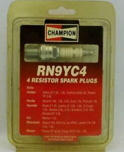 4 x CHAMPION RN9YC4 Spark Plugs FOR HYUNDAI Excel 2, 1.5L EFI - 7/1989 - 7/1994