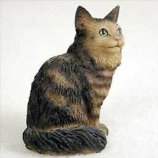 Maine Coon Brown Small Cat Figurine