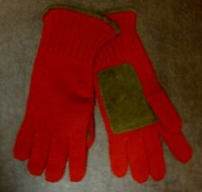 Polo Ralph Lauren Unisex Cashmere Suede Gloves Red 358973 $175 NWT