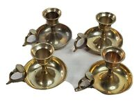 Brass Polished Candlestick Taper Candle Holder Chamber Stick Catco Solid 4 Piece