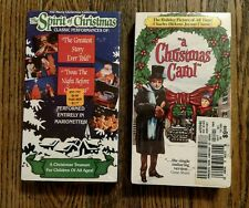 Lot of 2 Chtistmas VHS Tapes: a Christmas Carol and The Spirit of Christmas