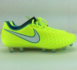 Nike Womens Magista Opus II AG-PRO ACC Soccer Cleats Volt 844217-718 Size 8