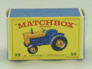 Matchbox Lesney #39 Ford Tractor Original Box Only