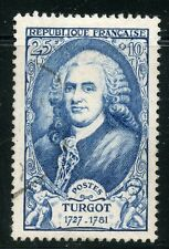 STAMP / TIMBRE FRANCE OBLITERE N° 858 / CELEBRITE / ROBERT JACQUES TURGOT