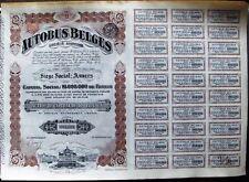 Vintage Belgium 100 Francs bond The Autobus Belges, 1924