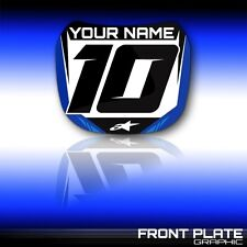 2006 2007 2008 2009 YAMAHA YZ 250F - YZ 450F  FRONT NUMBER PLATE GRAPHIC DECAL