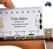 String Action Ruler Gauge Luthier Setup Guitar Instrument Measurement