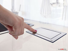 EVOline Backflip drehbare Steckdose Steckdosenelement Edelstahl mit USB Charger