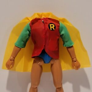 """NEW Reproduction Mego 8"""" ROBIN Suit Outfit Shirt Cape"""