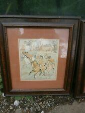 More details for four vintage framed horse prints
