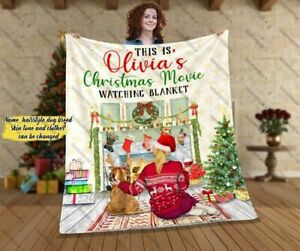 Personalized This Is Christmas Movie Watching Blanket, Xmas Gift For Dog Lovers