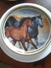 Horse Plate, Prairie Thunder, On The Range, Danbury Mint