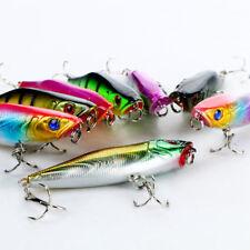 Lot 8pcs Colorful Plastic Popper Fishing Lure Top Water False Baits 7.5g New