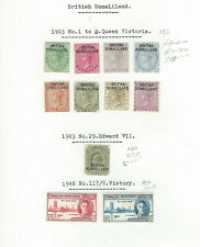 BRITISH SOMALILAND - GOOD EARLY MM COLLECTION ON ALBUM PAGE