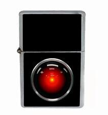 Hal 9000 Rs1 Flip Top Oil Lighter Wind Resistant With Case