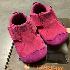 Merrell Jungle Moc Baby Girl's Shoes; Color: Fuchsa/Pink, Purple   Size:02 M US