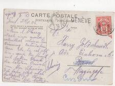 Svizzera 25 AGOSTO 1906 31 No.5 250b ambulatoriale TIMBRO POSTALE