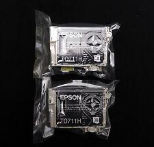 Epson T0711H X 2 Genuino Original Negro alta capacidad de cartuchos de tinta
