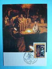 LOT 9320 CARTE MAXIMUM NOEL CHRISMAS ITALIE ITALIA ANNEE 1991