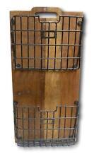 Wall Mount Shelf 2 Metal Mesh Baskets Vintage Shabby Look Reclaimed Solid Wood