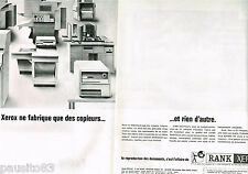 PUBLICITE ADVERTISING 065  1965  RANK XEROX  ( 2p) photocopieur