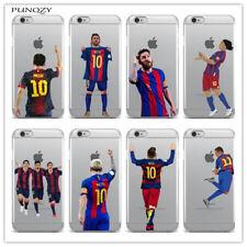 Funda Carcasa de fútbol Messi para iPhone 6 6S Plus 7 8 XS Max Xr Plus X 11 Pro Max