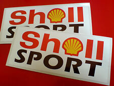 SHELL SPORT  Vintage Retro Motorsport Race Car Stickers Decals 2 off 150mm
