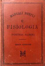 MICHAEL FOSTER FISIOLOGIA MANUALI ULRICO HOEPLI 1891