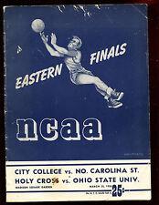 1950 NCAA Bask Tournament Program CCNY N. Carolina State Holy Cross Ohio St VG