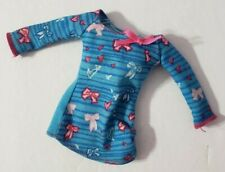 BARBIE DOLL CLOTHES POTTY TRAINING TAFFY BLUE WHITE & PINK TOP SHIRT HEARTS BOWS