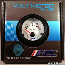 "UNIVERSAL APC 52MM 2"" VOLT VOLTAGE PERFORMANCE WHITE EL INDIGLOW GAUGE METER"