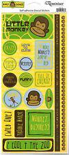 Reminisce LITTLE MONKEY PHRASES Stickers scrapbooking MISCHIEF