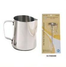 1 Espresso Milk Frothing Pitcher 50oz 50 oz  + 1 Thermometer SLME050, SLTHD400