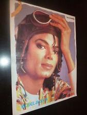 Vintage Rare Greek Mplek Magazine Inside Poster Michael Jackson 1984