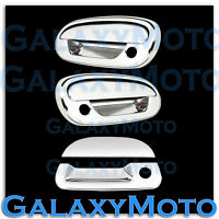 97-03 Ford F150 Triple Chrome 2 Door Handle+NO Keypad+w/PSG KH+Tailgate Cover