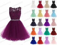 Hot New Short Bridesmaid Gown Cocktail Party Evening Prom Dress Custom Size 6-18