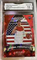 2020 Panini Prizm Lamelo Ball Rookie Red Ice Global SP Gem MINT 10 ROY