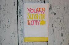 You Are My Sunshine Burp Cloth Baby Shower Gift  Single Burpie