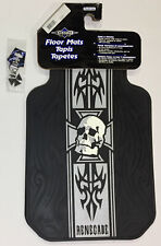 Renegade Iron Cross 3 Pc Automotive Gift Set Floor Mats and Key Chain