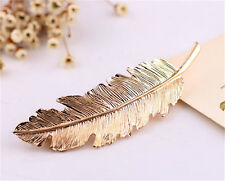Ladies Fashion Feather Leaf Bobby Pin Hairpin Hair Clip Barrette Accessories
