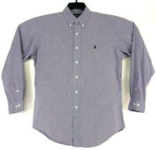 Polo RALPH LAUREN Mens 15.5 34/35 Purple Check Button Down YARMOUTH LS Shirt
