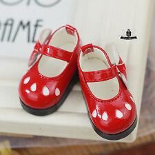 Yosd 1/6 BJD Shoes Dollfie DIM Lolita red Shoes Boots Luts AOD DOD SOOM MID DZ