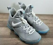 🔥NEW! Nike Lebron James XIV 14 MAG Marty McFly SZ 9 Gray 852405-005🔥