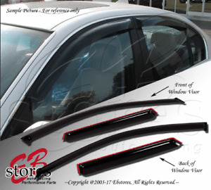 Vent Shade Window Visors Deflector Ford Focus 12-16 4 Door Sedan S SE SEL 4pcs