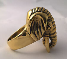 G-Filled Men's 18kt gold LARGE Elephant ring Animal rustic 23.1 grams size 9 / S