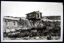 **1930's ALASKA HOME AND CACHE ~ Cabin~RPPC  Real Photo