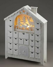 Aldi LED Wooden Advent Calendar Winter Scene 23 drawers & 1 door to fill BNIB